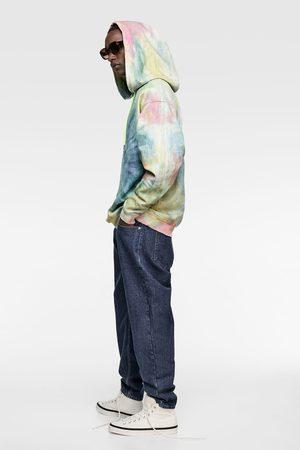Zara Tie-dye denim hoodie