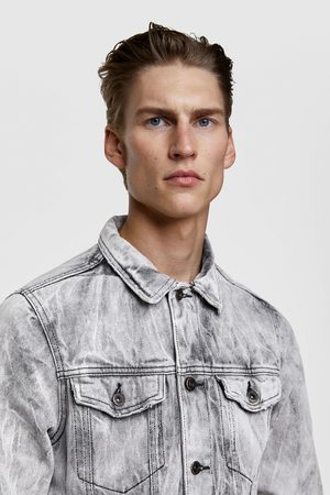 Zara Creased-effect denim jacket