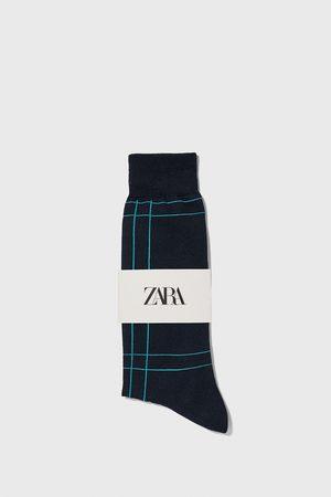 Zara Check mercerised socks