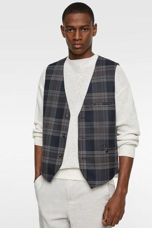 Zara Check waistcoat