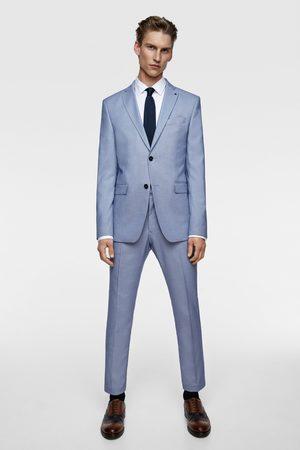 Zara Bird's-eye suit trousers