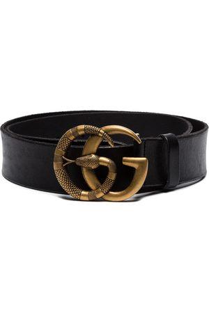 Gucci Miehet Vyöt - Double G snake buckle belt