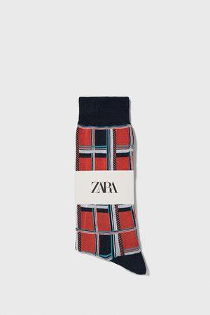 Zara Miehet Sukat - Check mercerised socks