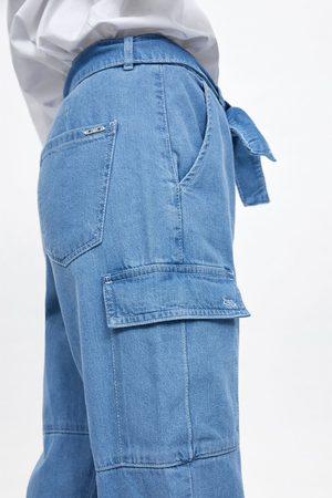 Zara Belted cargo trousers