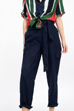Zara Linen cargo trousers