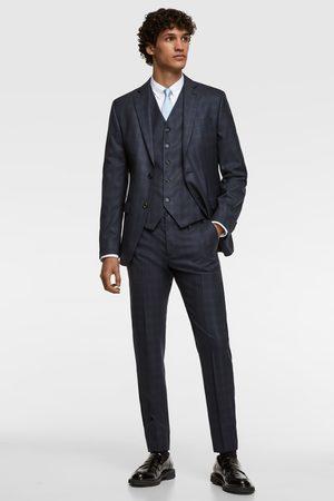Zara Checked suit waistcoat