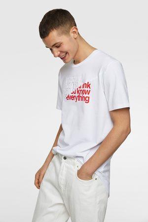 Zara Contrast piqué t-shirt
