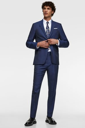 Zara Herringbone texture suit trousers