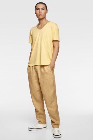 Zara Miehet T-paidat - Basic easy fit t-shirt