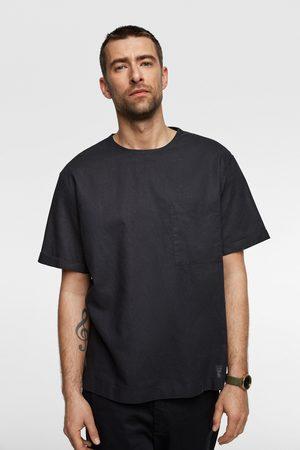 Zara Contrast linen t-shirt
