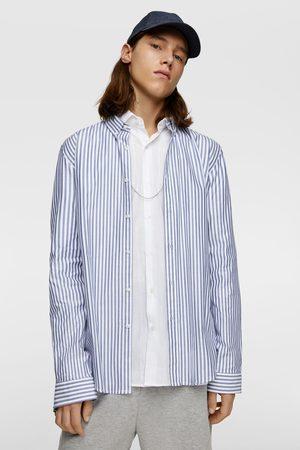 Zara Miehet Bisnes - Striped oxford shirt