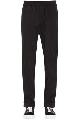 Valentino Pleated Wool Blend Jogging Pants