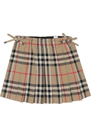 Burberry Check cotton skirt