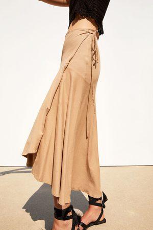 Zara Textured wrap skirt