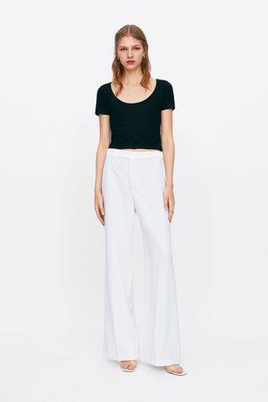 Zara Ribbed cropped t-shirt