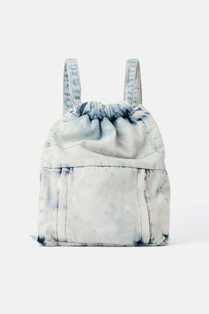 Zara Gathered denim backpack