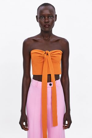 Zara Bandeau top with bow