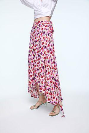 Zara Printed sarong skirt