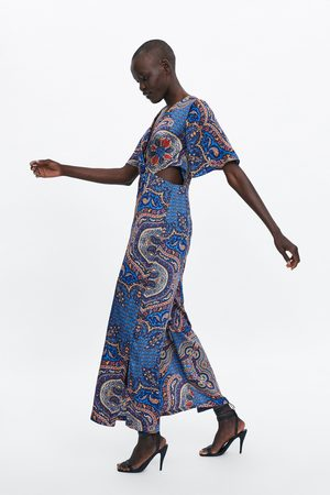 Zara Printed jumpsuit with vents