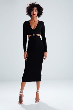 Zara Long knit dress with cut-outs