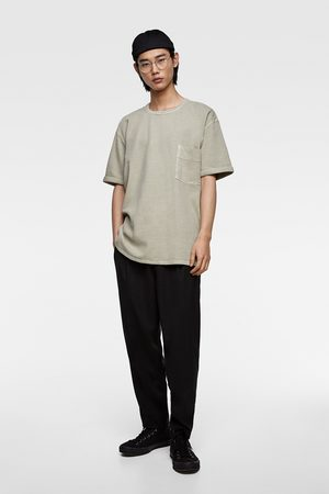 Zara Textured denim t-shirt