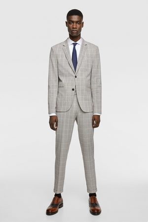 Zara Check suit trousers