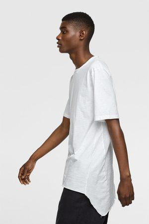 Zara Contrast textured t-shirt