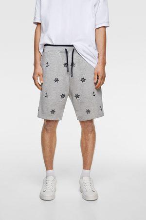 Zara Embroidered bermudas