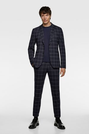 Zara Miehet Bleiserit - Windowpane check suit blazer