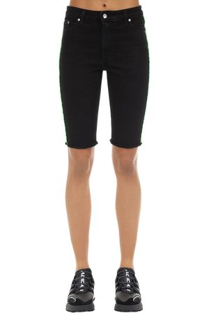 Represent Cotton Blend Denim Riding Shorts