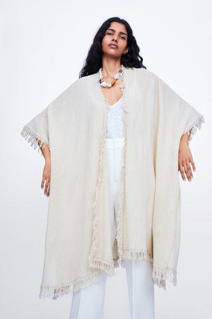 Zara Long fringed kimono
