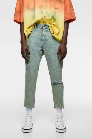 Zara Acid wash slim fit jeans