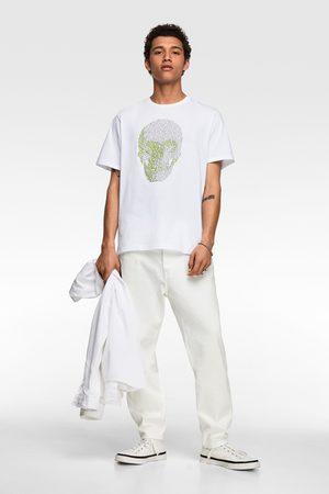 Zara Contrast skull print t-shirt