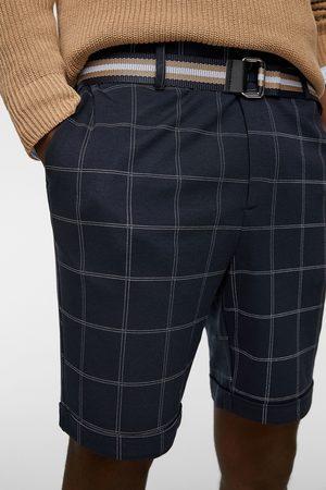 Zara Miehet Bermuda-shortsit - Check bermuda shorts with belt