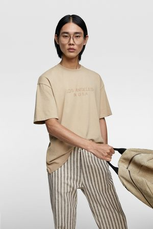 Zara Embroidered contrast t-shirt