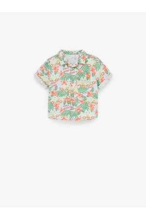 Zara Printed denim shirt