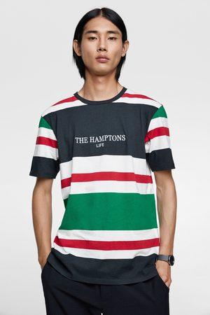 Zara T-shirt with contrast stripes
