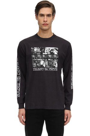 FACT. X BEASTIE BOYS Bb Photo L/s Printed Cotton T-shirt