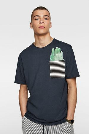 Zara T-shirt with contrast pocket detail
