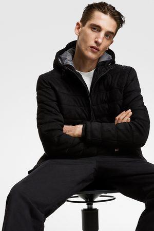 Zara Faux suede puffer jacket