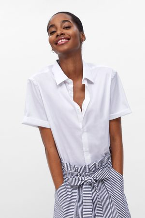 Zara Striped bermuda shorts