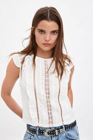 Zara T-shirt with matching ruffles