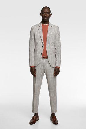 Zara Miehet Housut - Check suit trousers