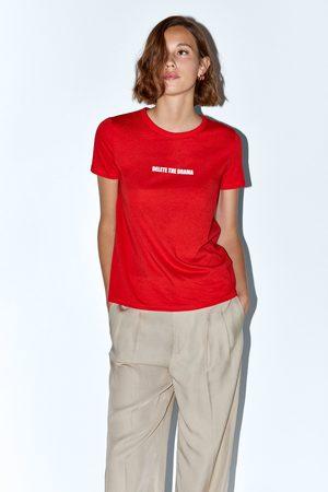 Zara T-shirt with front slogan
