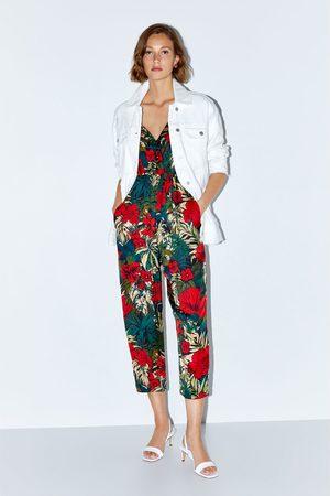 Zara Tropical print jumpsuit