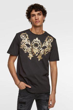 Zara T-shirt with metallic embroidery