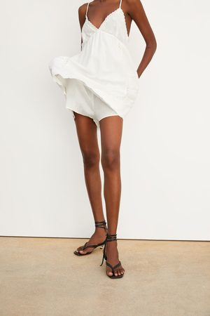 Zara Embroidered rustic playsuit dress