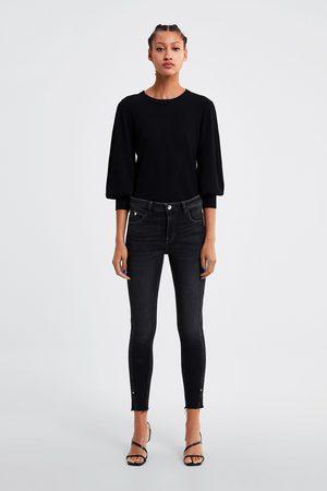 Zara Zw1975 skinny jeans with hem vents