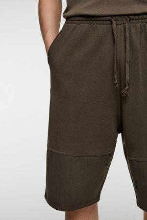 Zara Plush jersey bermuda shorts