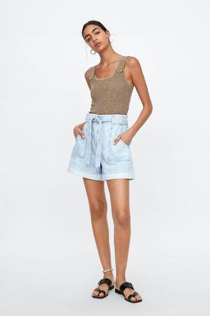 Zara Denim shorts with belt